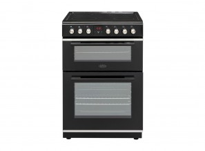 60cm black freestanding cookers