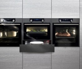 Range of black ovens available at e&s