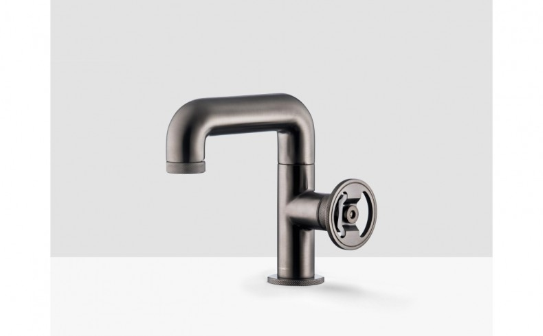 20190817A Wash Basin Mixer - BOLD KB1200 CS - Brushed Black Chrome