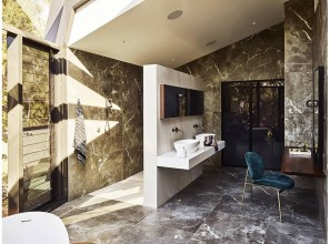 Corian® solid surface for a renovated bathroom